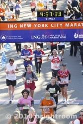 L'arrivo alla Maratona di New York 2010